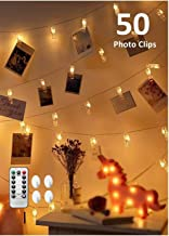 CADNLY String Lights With Clips - 50 LED Photo Clip Polaroid Lights For Bedroom - Hanging Picture Fairy Lights - Dorm Room Photograph Display String Lights For Pictures - Remote Control - Warm White