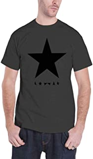 David Bowie デビッド・ボウイ Blackstar Logo ブラックスター・ロゴ 公式 メンズチャコールグレー Tシャツ 全サイズ