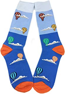 Aesthetinc Men's Novelty Cotton Fun Cartoon Dress Socks Large/10-13