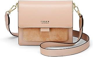Women's Crossbody Shoulder Bag Split Leather Small Flap Lady Purse Female Cross Body Bag