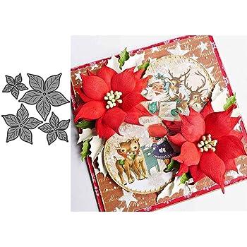 Xmas Carbon Steel Cutting Dies DIY Scrapbooking Embossing Christmas Card Decor#N