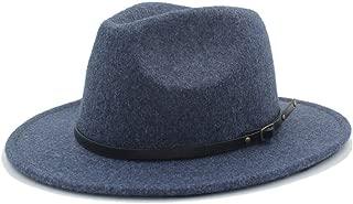 SHENTIANWEI Authentic Men Women Fedora Hat Wide Brim Church Hat Pop Panama Hat Tea Fascinator Party Hat Size 56-58CM