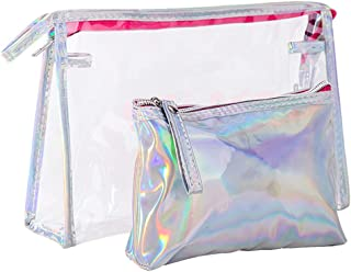 2PCS Clear Toiletry Bag Travel Luggage Pouch Makeup Bags Cosmetic Bag Organizer for Women Travel Business Bathroom Zhhlaixing