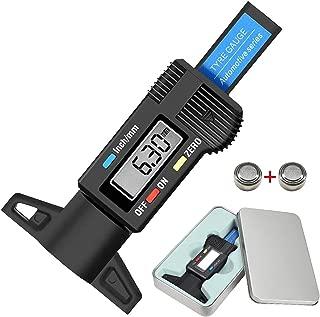 Audew Digital Tire Tread Depth Gauge - Digital Tire Gauge Meter Measurer LCD Display Tread Checker Tire Tester for Cars Trucks Vans SUV, Metric Inch Conversion 0-25.4mm