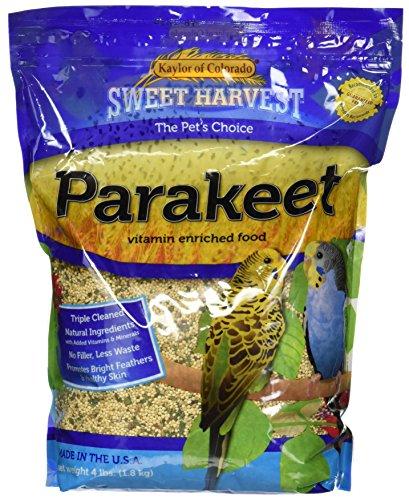 Sweet Harvest Parakeet Bird Food, 4 lbs Bag - Seed Mix for Parakeets