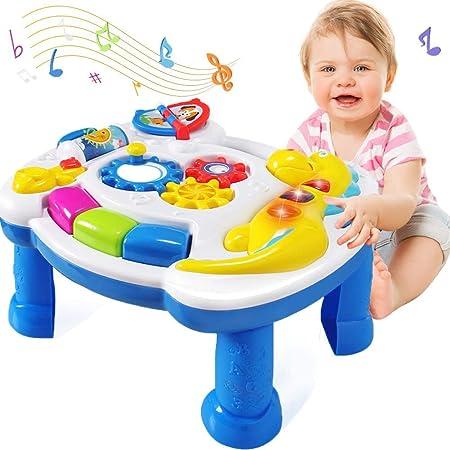 Homofy Juguetes De Bebé Musical Aprendizaje Mesa 6 A 12 Meses Up Early Educación Música Centro De Actividades Mesa De Juego Bebés Bebé Niños Juguetes Para 1 2 3 Años De Edad