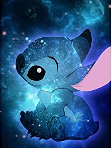 ACIOPPL Paint by Numbers for Adults Stitch Beginner Students Kids DIY Acrylic Painting Kits Oil Paint by Numbers Disney Canvas 16x20 inch Home Wall Decor Bedroom Arts Craft Gift Lilo and Stitch