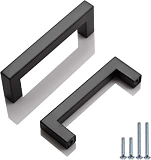 Probrico 10 Pack Square Kitchen Cabinet and Cupboard Drawer Pulls and Handles 96Mm/3-3/4 Center to Center