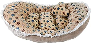 Glumes Pet Puppy Bed, Soft Princess Bows Lace Heart Elegant Lovely Bed Small Dog Cat Bed Ideal