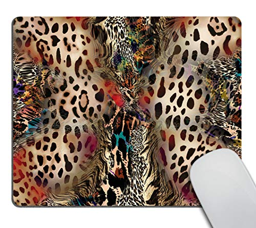 Smooffly Leopard Print Mouse Pads for Women,Abstract African Animal Leopard Wildlife Retro Personality Desings Gaming Mouse Pad 9.5 X 7.9 Inch (240mmX200mmX3mm)