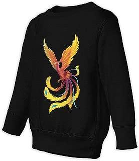 Yidzlhzs Yellow Phoenix Toddler Juvenile Sweatshirt Black
