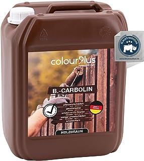 colourPlus Carbolineum 10L pflanzliche Holzlasur außen - langzeitwetterbeständig - besonders umweltfreundliche Holzlasur aussen - farbbeständige Holzfarbe außen - Made in Germany