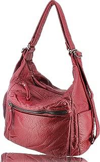 Faux leather handbag purse bag tote satchel shoulder bag hobo designer handbags faux leather purses for women girls as gift
