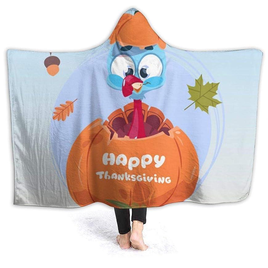 ボランティア主張食用YONHXJLAZ Thanksgiving Pattern 毛布 フード付き ブランケット 大判 タオルケット厚手 オールシーズン快適 軽量 抗菌防臭 防ダニ加工 オシャレ 携帯用,車用,オフィス用