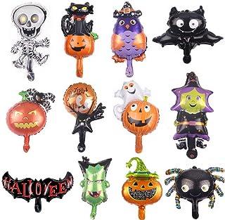 Halloween-decoraties, pompoenen, heksen, vleermuizen, vlaggen, slaapkamer, binnen en buiten, open haarden, tuinen, Hallowe...