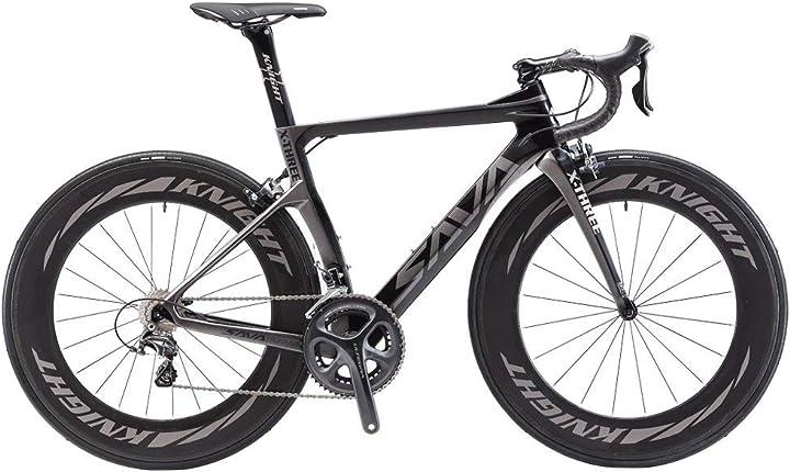 Bici da strada con telaio e ruote in carbonio -savadeck phantom3.0 -cambio shimano ultegra r8000 22 velocità B0794SYZ71