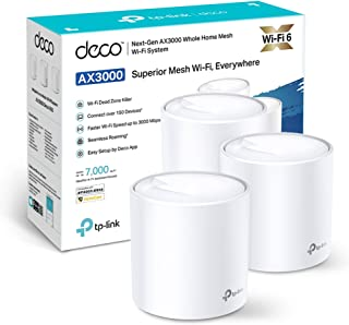 TP-Link DECO X60 (3-pack) AX3000 Whole Home Mesh Wi-Fi System