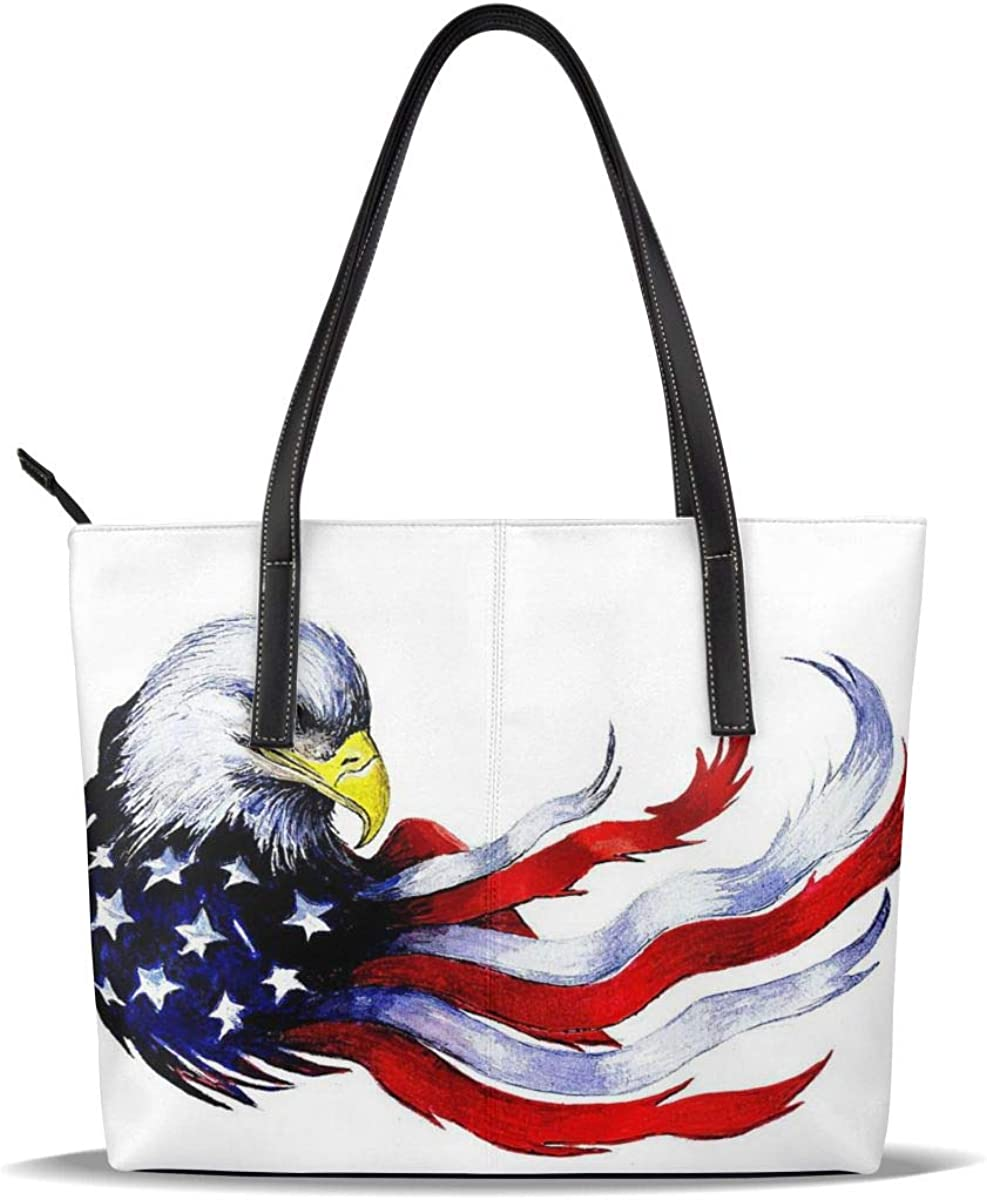 Eagle New color Fees free Blue Red American Flag Pu Pattern Printed Patriot Leather