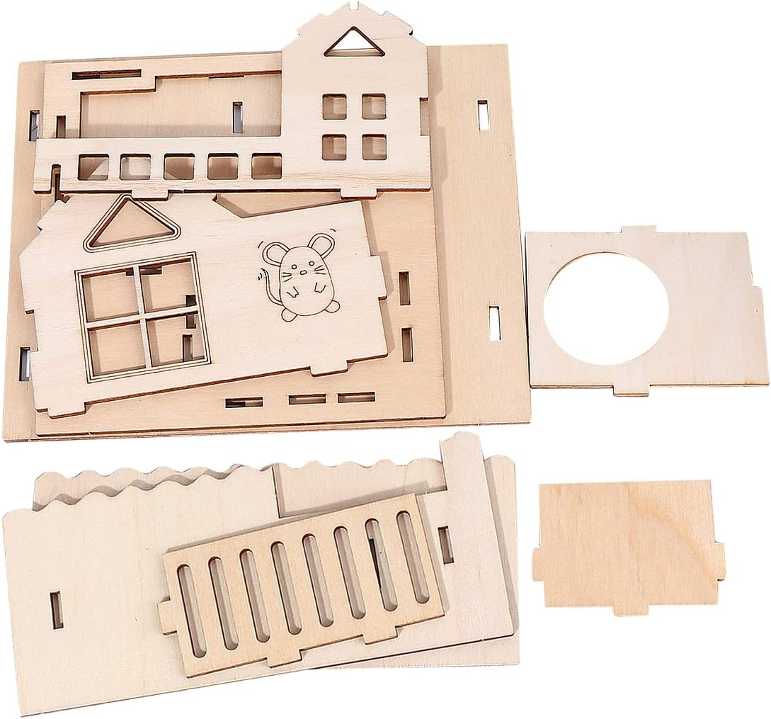 TEHAUX Wooden Deluxe Hamster- Cabin Cheap mail order sales Hamster Adorable House Pet H
