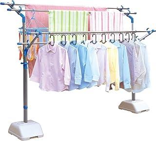 アイリスオーヤマ 洗濯物干し 布団干し ベランダ 物干し 約5人分 ブロー台セット ステンレス 伸縮タイプ 幅80cm SMS-169R