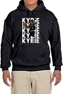 Fancy Fashion Black Brooklyn Kyrie Text Pic Hooded Sweatshirt