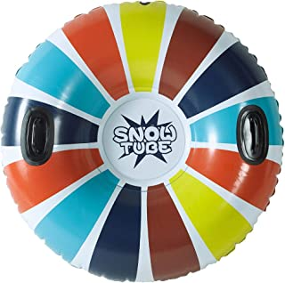 [Newest 2019] Snow Tube - Super Big 47 Inch Inflatable Snow Sled for Kids and Adults - Double Layer Bottom & Strengthened Handles Sledding Tube - Heavy Duty Made by Thickening Material of 0.6mm
