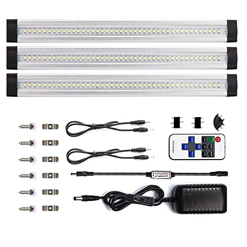 LEBRIGHT LED bajo mueble regulable,modos de parpadear, control remoto LED, 30cm,