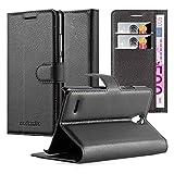 Cadorabo Custodia Libro per Huawei Ascend G700 in Nero Carbone - con Vani di Carte, Funzione Stand e Chiusura Magnetica - Portafoglio Cover Case Wallet Book Etui Protezione