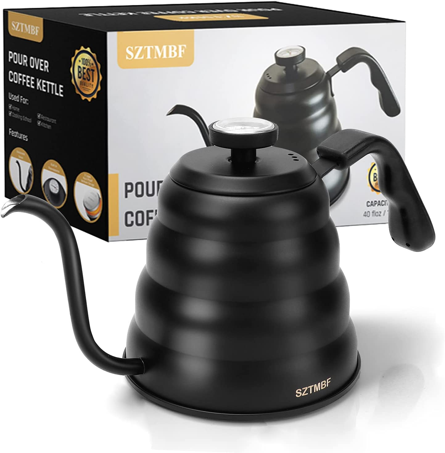 Pour Baltimore free Mall Over Kettle SZTMBF with Coffee Thermomete