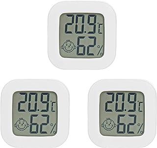 PAIRIER 3 Piezas Mini Termómetro Higrómetro Digital Monitor del Indicador medidor de Humedad para el Hogar Oficina Sala de...