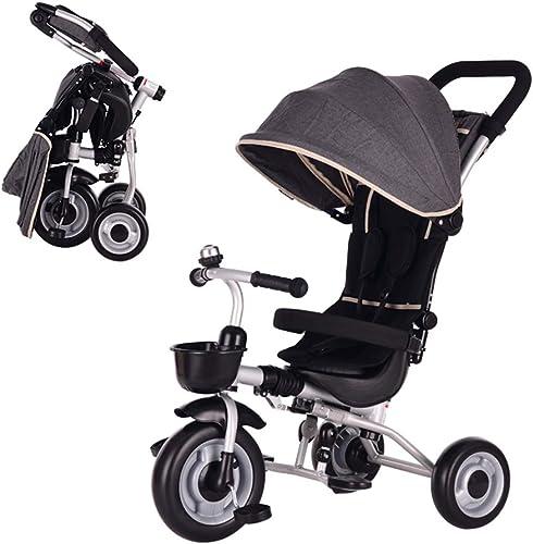 perfecto YINGH - Trike Passeggino Triciclo Plegable para Niños Niños Niños con Putter direccional y toldo para bebé de 1-6 años de Edad, Seguro y Duradero 3 Colors  tienda en linea