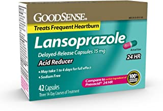 GoodSense, Acid Reducer, Lansoprazole Delayed Release Capsules, 15 mg, 42 Count