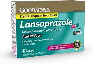 GoodSense, Acid Reducer, Lansoprazole Delayed Release Capsules, 15 mg, 42 Count