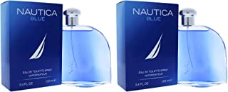 Nautica Blue Eau De Toilette Spray for Men 3.40 oz (Pack of 2)
