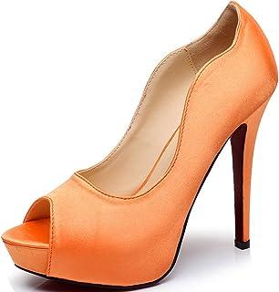 e661e98a96 Littleboutique New Peep Toe Satin Wedding Platforms Stiletto Evening Shoes  Dress Pumps Bridal Shoes Heels