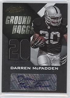 Darren McFadden #5/5 (Football Card) 2012 Absolute - Ground Hoggs Signature Materials - Jersey Number #8