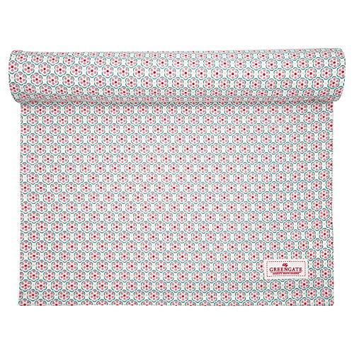 GreenGate - Läufer, Tischläufer - Leah - Baumwolle - Pale pink - 45 x 140 cm