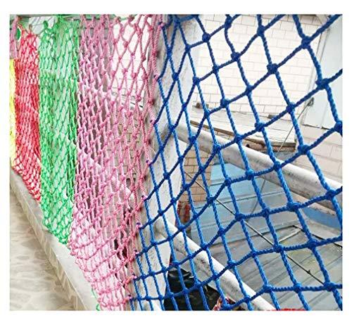 NIUFHW Rete in Corda di Nylon, braccioli for Piscina Decorazione in Corda Colorata Rete di Protezione Rete da Gioco for Bambini Rete for Gatti Rete for Scale di Sicurezza Balcone Rete anticaduta 1x5m