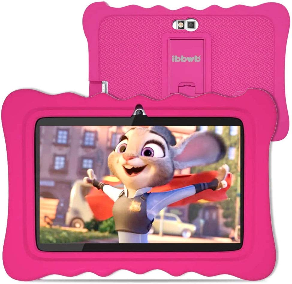Kids Tablet 7 inch- Tablet for Kids with Parental Control,2GB RAM 32GB ROM,Android 9.0 Tablet,HD Display Durable Case,Eye Protection Anti Blue Light Screen Prime (Pink)