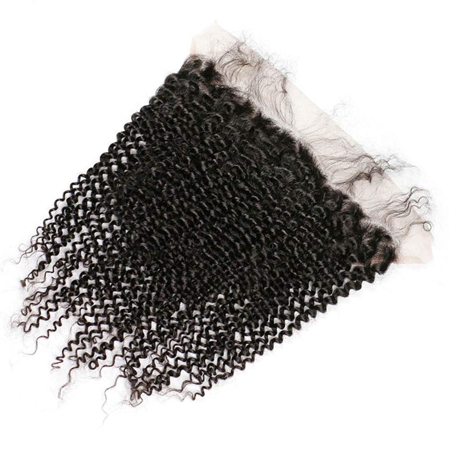 成り立つきょうだいサイズYrattary シルキーロングペルーカール人間の髪の毛の束バンドル13インチx 4インチレース前頭閉鎖ヘアエクステンション複合ヘアレースかつらロールプレイングウィッグロング&ショート女性自然 (色 : 黒, サイズ : 14 inch)