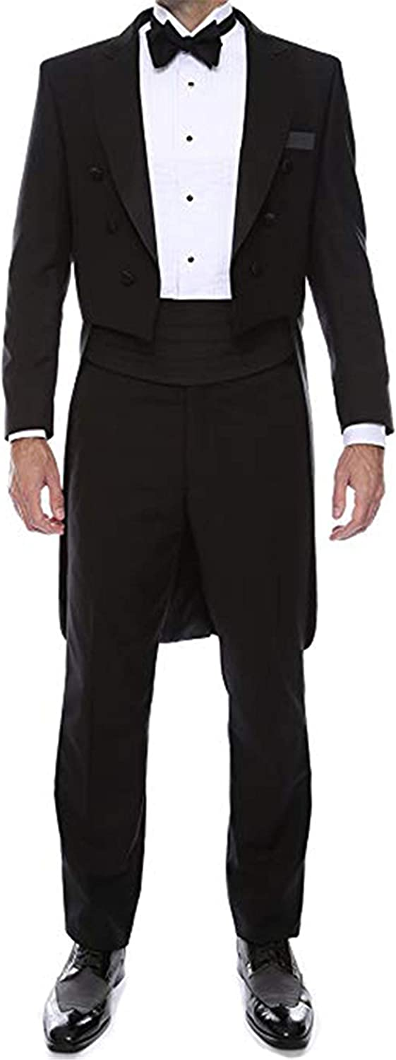Setwell Custom Made Tailcoat Groom Tuxedos Business Men Suits Jacket+Pant Two Pieces