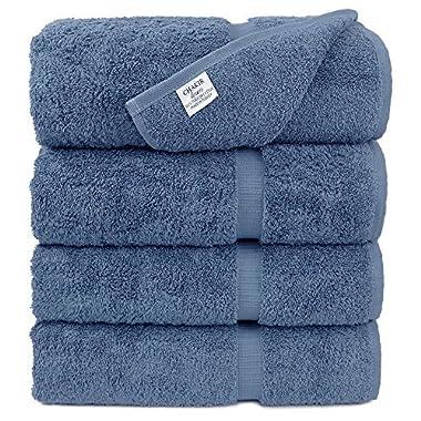 Luxury Premium long-stable Hotel & Spa Turkish Cotton 4-Piece Eco-Friendly Bath Towel Set (Wedgewood)