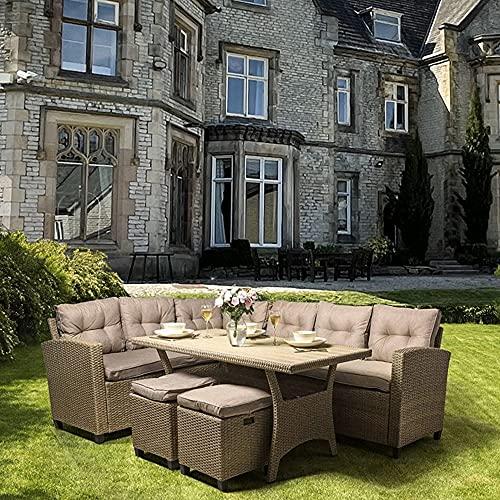 Albany Rattan Garden Corner Dining Sofa Set