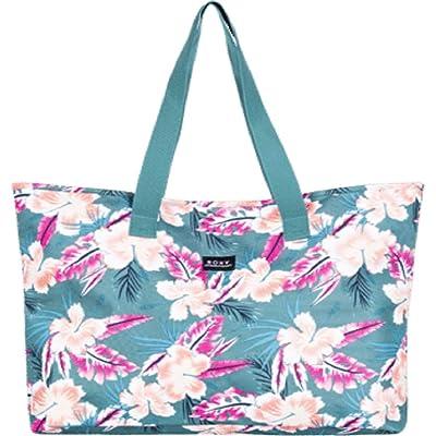 Roxy Wildflower Printed Tote (Anthracite Zilla) Tote Handbags