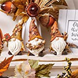 VALERY MADELYN 3er Set 14cm Kunstharz niedlichen Zwerge Figuren Sonnenblume halten und Langen Hut tragen Tischdeko für Haus und Garten Herbstdeko Kinder Erntedank Geschenk - 6