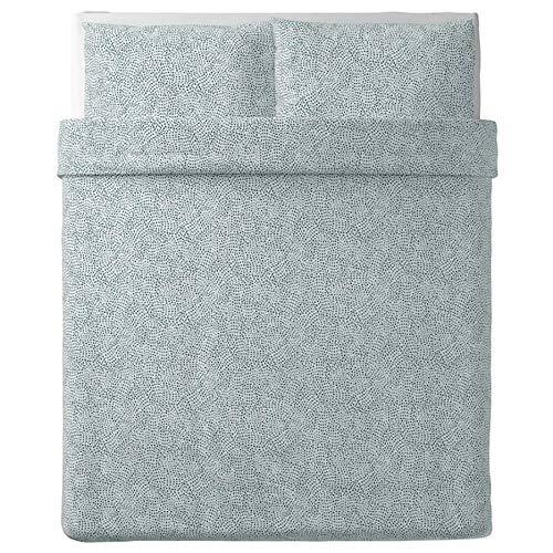 Ikea Tradkrassula 903.928.24 - Copripiumino e federa, colore: Bianco/Blu