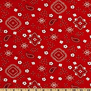 Richland Textiles Bandana Prints Red Fabric by The Yard