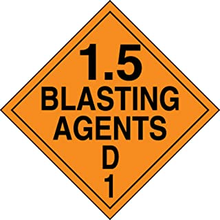 blasting agent placard