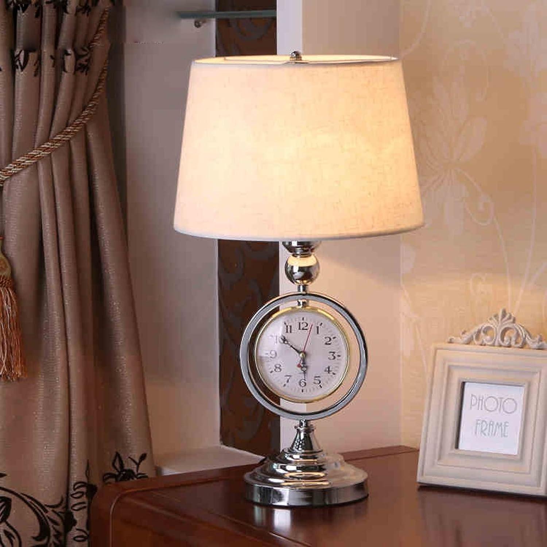 DLewiee Europäische Kreative Nachttischlampe Schlafzimmer Lampe Retro-Uhren Höhle Eisen-Lampen B01JGNP740 | Berühmter Laden
