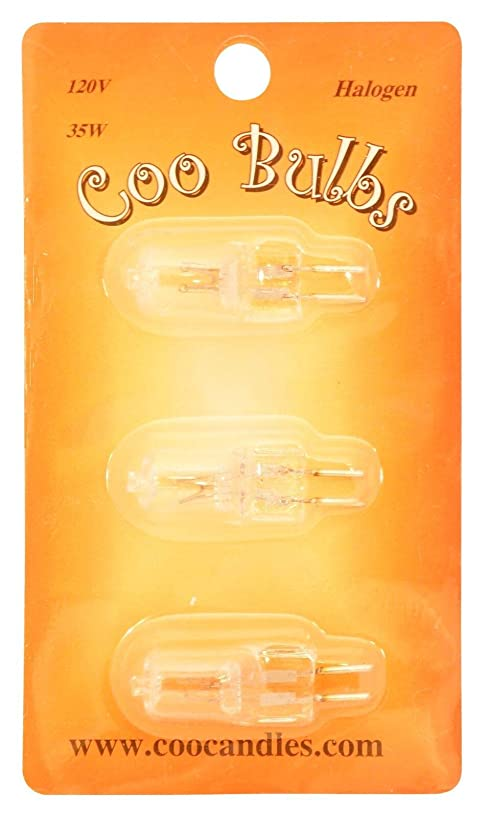Coo Candles 3 Pack 35 Watt Halogen Bulb for Electric Candle Warmers and Oil Burners (3)